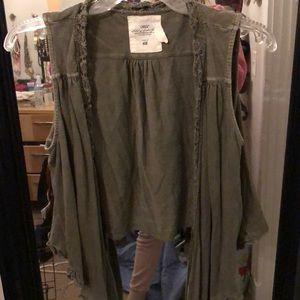 H&M Green vest cardigan